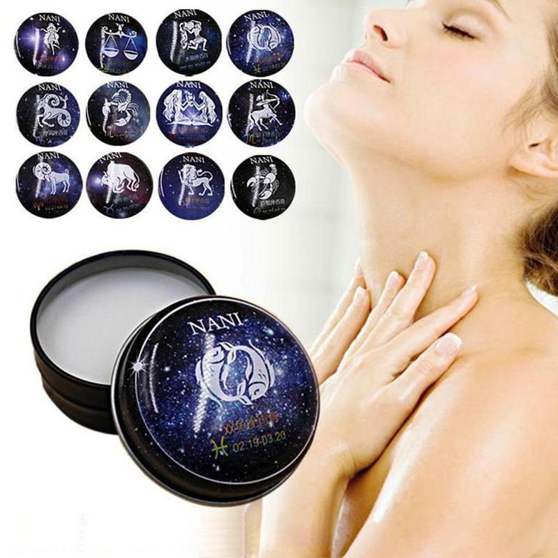 Universal 12 Constellation Solid Perfume Portable Skin Care Balm Deodorants Antiperspirants Women Men Body Romantic Fragrance