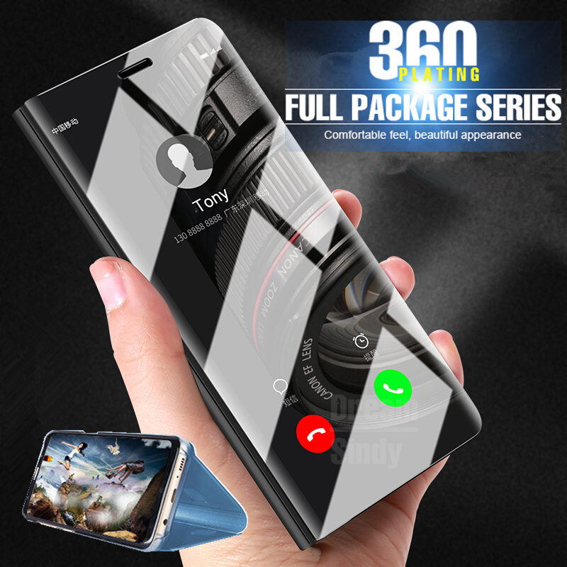 reputable site c0bc2 99285 Luxury Smart View Plating Flip Case For Huawei P20 Pro Mate 10 Lite Mirror  Cover For Huawei Mate 10 P20 Lite Shockproof Case