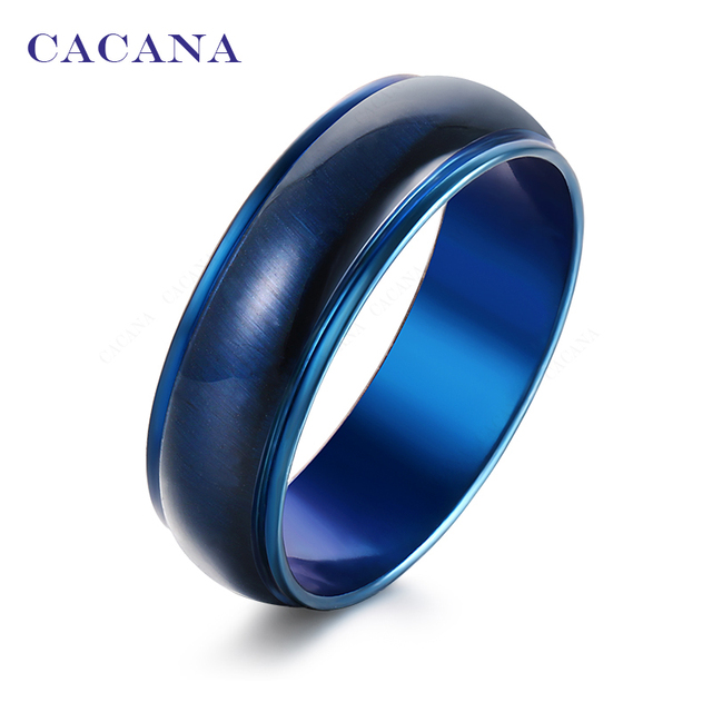 CACANA Titanium Stainless Steel Rings For Women Bright Ceramics Jewelry Wholesale NO.R145