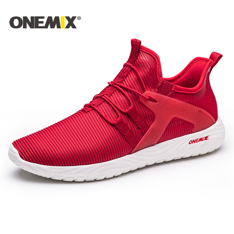 Onemix 2018 New men breathable mesh sneakers lightweight running shoes men outdoor walking trekking shoes women sports sneakers onemix 2017 men s running shoes women sports sneakers light walking shoes breathable mesh vamp anti skid outdoor sports sneakers