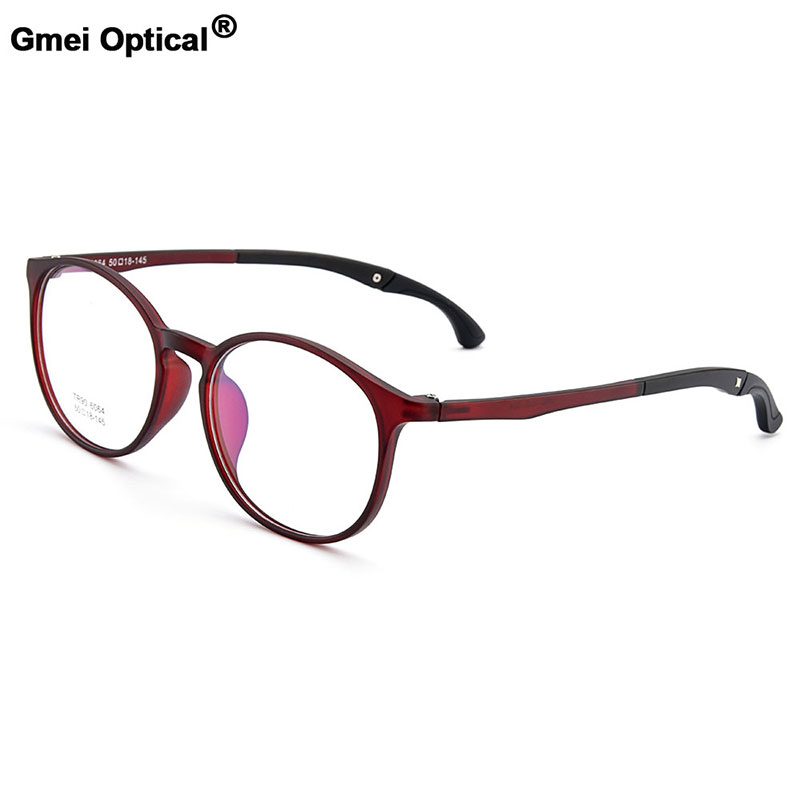Gmei Optical Urltra-Light TR90 Students' Round Optical Eyeglasses Frames With Hangers Plastic Myopia Presbyopia Spectacles M6064