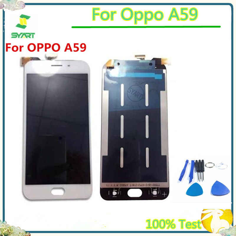 Black White 5.5 inch A59 IPS LCD Display Touch Screen Digitizer Assembly Replacement For <font><b>OPPO</b></font> A59 F1S F 1S <font><b>A1601</b></font> image