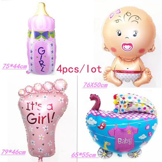 globos baby girl inflatable FOIL balloon milk bottle balon baby baloons baby foot balao for newborn party princesa balloons