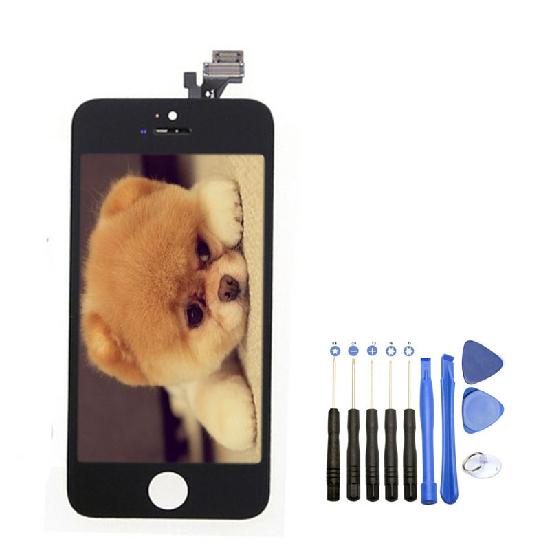 Onecell High Quality LCD Display With Touch Screen Digitizer Assembly With Opening Tool For Iphone 5 5G