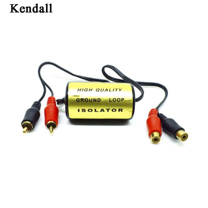 RCA <font><b>Audio</b></font> Noise <font><b>Filter</b></font> Suppressor Ground Loop Isolator For <font><b>Car</b></font> And Home Stereo image
