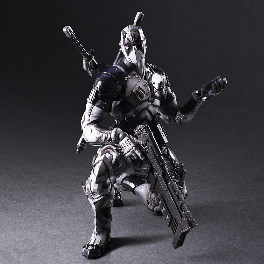 PLAY ARTS 27cm Marvel X-men Deadpool X-FORCE Grey PVC Action Figure Model Toy fire toy marvel deadpool pvc action figure collectible model toy 10 27cm mvfg363