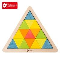 Classic World Kids Puzzles Wooden Toys Tangram / Jigsaw Board Wood Geometric Shape Children Educational Toys