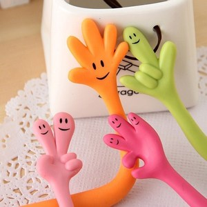 Image 2 - 50 Pcs/1 Lot Funny Ballpoint Pen Expressive Finger Cartoon Ball Pen Creative Hand Bendable  Korea Stationery Wholesale