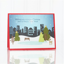 YaMinSanNiO Scene Dies Scrapbooking Metal Cutting New 2019winter Trees Die Cuts for Card Making Gate Craft Embossing
