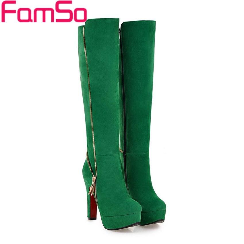 Plus Size 34 43 2016 new Fashion font b Women b font Boots Black red Green