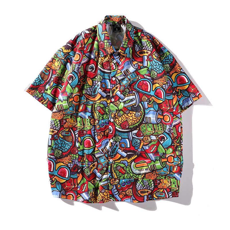 Гавайский стиль модные футболки Aloha пляжные рубашки летние мужские повседневные рубашки с коротким рукавом модные вечерние Праздничная юбка Уличная