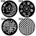 1 unids redonda de acero inoxidable Nail Art placas estampación DIY manicura uñas de impresión de uñas sellos Nail Art Design plantilla de la plantilla
