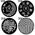 1pcs Stainless Steel Round Nail Art Stamping Plates DIY Manicure Nail Polish Print Stamps Nail Art Design Stencil Template
