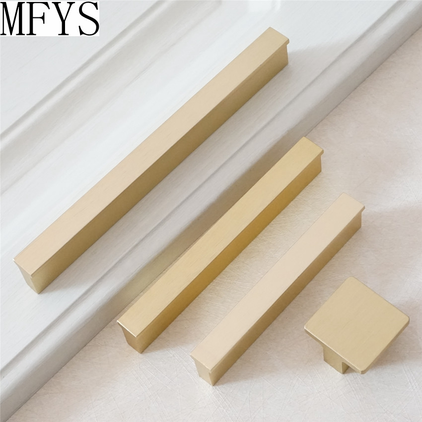 0 6 quot 3 quot 3 75 quot 5 quot 6 3 quot Brushed Gold Brass Handles Knob Drawer Pulls Dresser Knobs Kitchen Door Cabinet Handles Modern Decor in Cabinet Pulls from Home Improvement