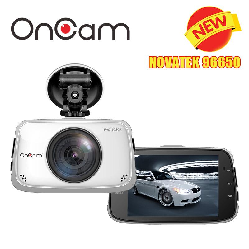 Prix pour D'origine Novatek NTK96650 Voiture DVR Caméra OnCam T808 Dash Caméra Full HD 1080 P Caméscope De Voiture 3.5 Pouces 170 Degrés G-sensor Dash Cam