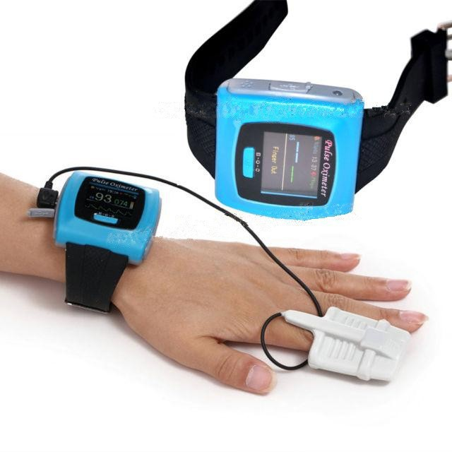 Contec Wrist Pulse Oximeter CMS50F with USB Cable and Software 24 hours Data Record цена