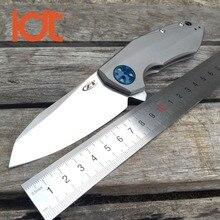 LDT ZT0456 Folding Blade Knives CTS 204P Blade Titanium Handle Ball Bearing Camping Knife Outdoor Tactical Pocket Survival Tools