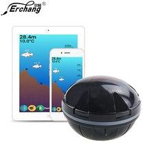 Erchang F3W Портативный Sonar Рыболокаторы Bluetooth Беспроводной глубина моря озеро рыба обнаружить эхолот Шенер Рыболокаторы IOS Android