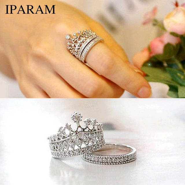 IPARAM 2016 New fashion accessories jewelry Top quality crystal Imperial crown f