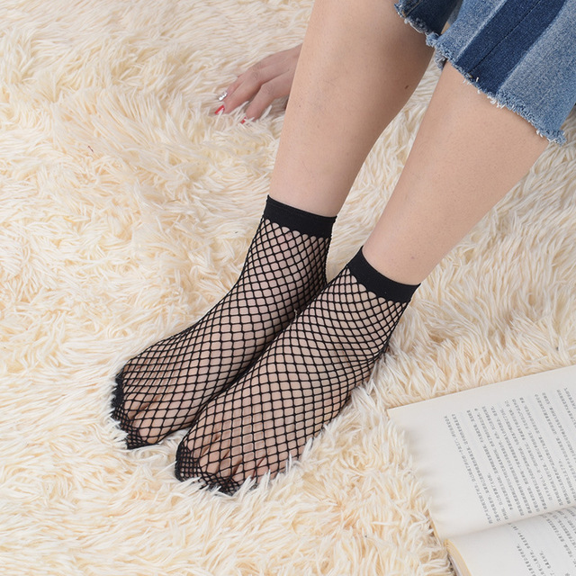 Sexy fishnet socks japan harajuku  Transparent Female calcetines Ladies meias meias mulheres Women Glass silk Chaussette Mujer
