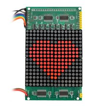LED решетки экран модуль 16*16 красный светодиодный матричный дисплей для Arduino и 51 однокристальный Микрокомпьютер