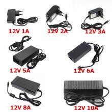 12 В светодиодный адаптер переменного тока 220 В в постоянный ток 12 в источник питания 1A 2A 3A 5A 6A 8A 10A светодиодный трансформатор EU US Plug Светодиодный драйвер для светодиодной ленты