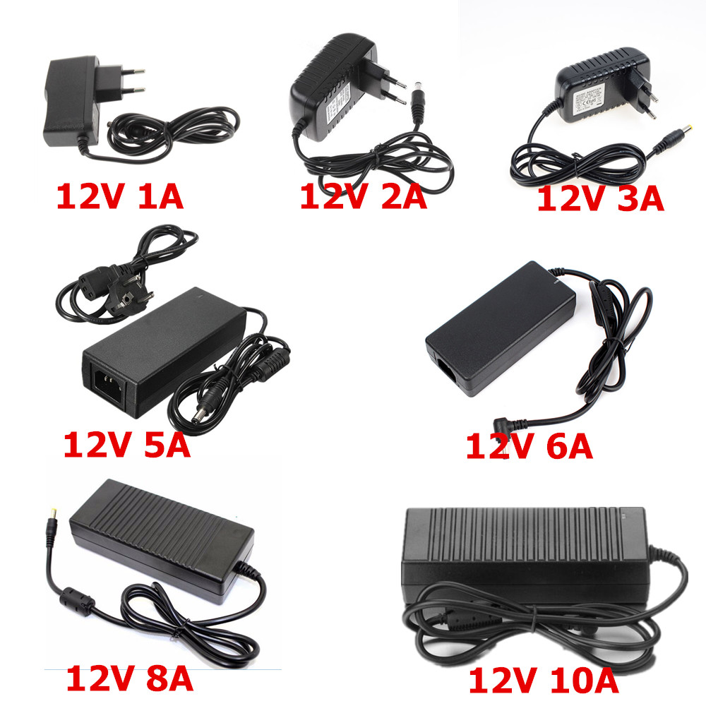 AC 100V-240V Converter Adapter DC 12V 6A 72W Power Supply Charger DC 5.5mm New