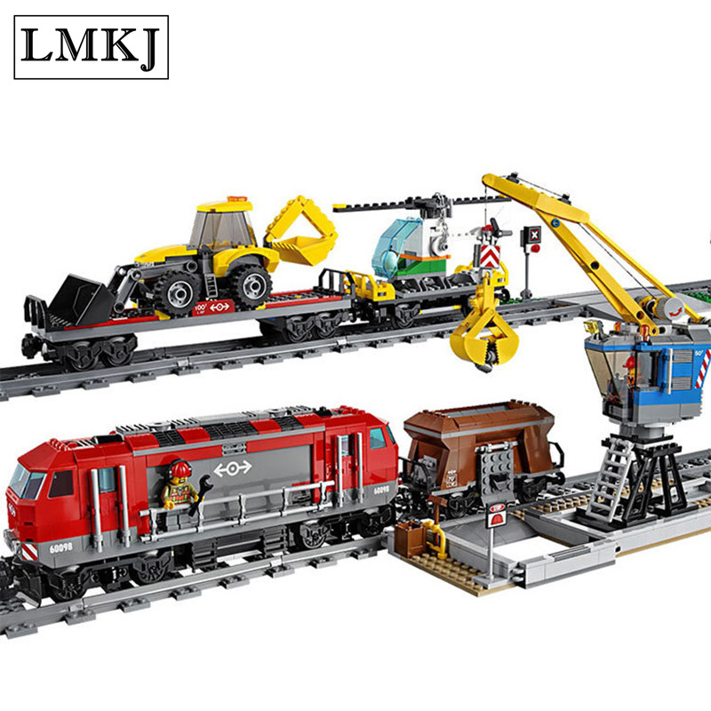Diy City Serise Engineering Remote Control RC Train odel & Building Blocks Bricks Toys for Boys Compatible with Legoingly lepin 02009 city engineering remote control rc train model