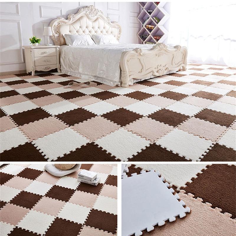 Baby Play Mat Children Carpet EVA Foam Shu Velveteen Mat Puzzle Interlock Exercise Floor Mat For Baby Kids Gym Speelkleed