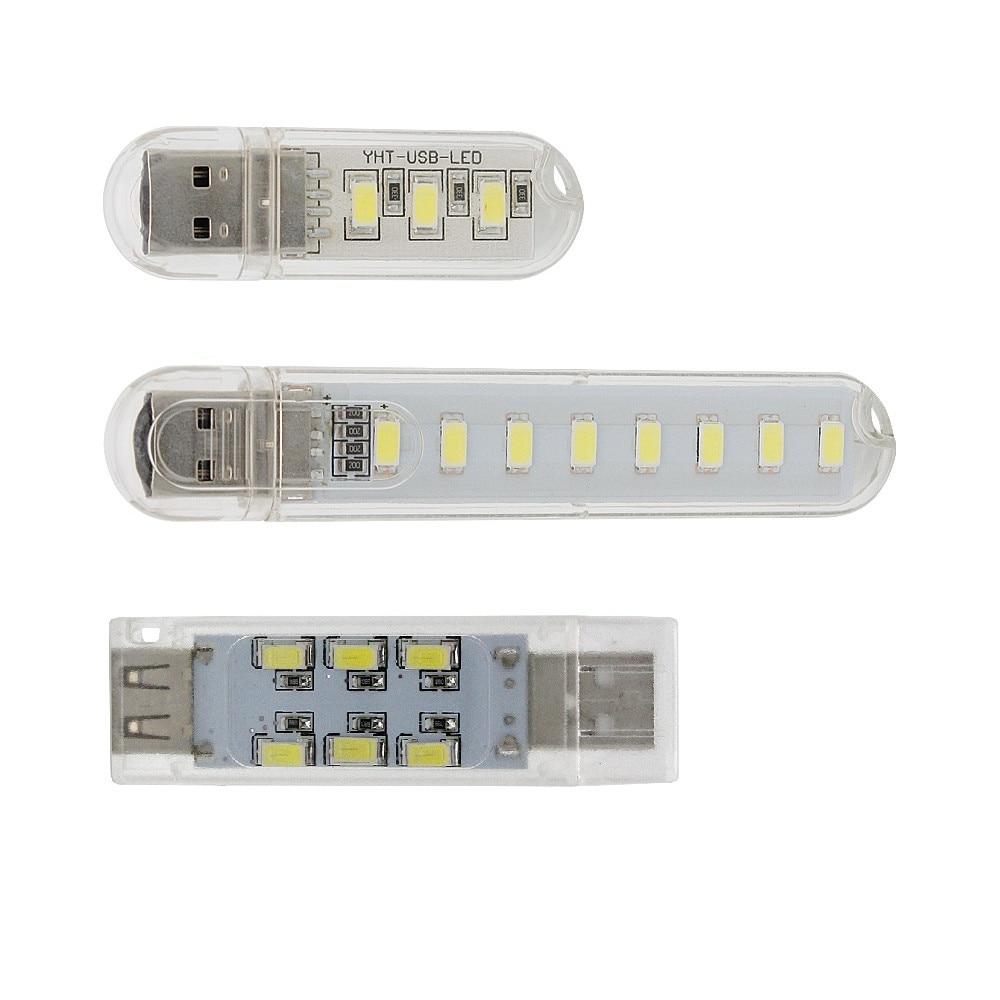 1pcs USB LED Night Light 12LEDs 8LEDs 3LEDs Cold White Luminaria Lamp For Reading Gadget Notebook Power Bank Computer
