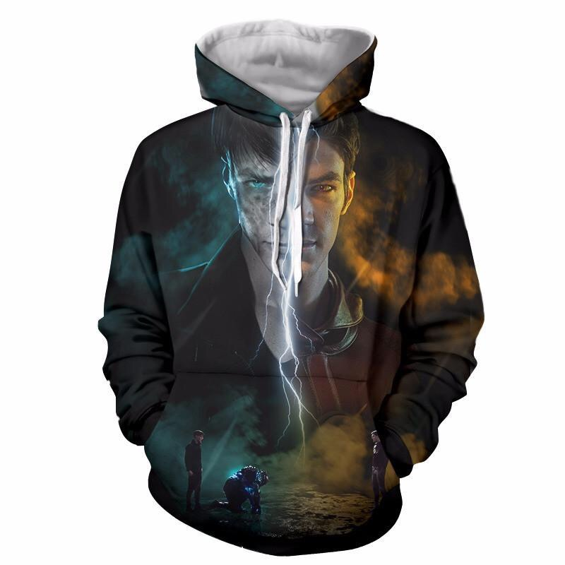 EU Size Fashion Sweatshirts Unisex Hoodies 3D Print Hoody Autumn Winter Coat Loose Hooded Clothing Male Tops Streetwear Coat