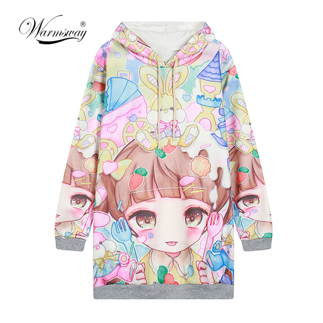 c024629b7 Autumn Lolita Hoodies Women Cute Hot Japan Students Young Kawaii ...