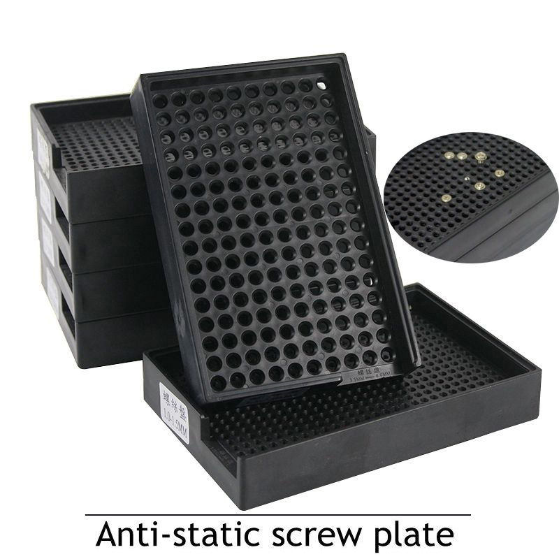 Screws Box Anti-static Screw Plate 1.0 - 4.0 Mm Black Count The Screw Box