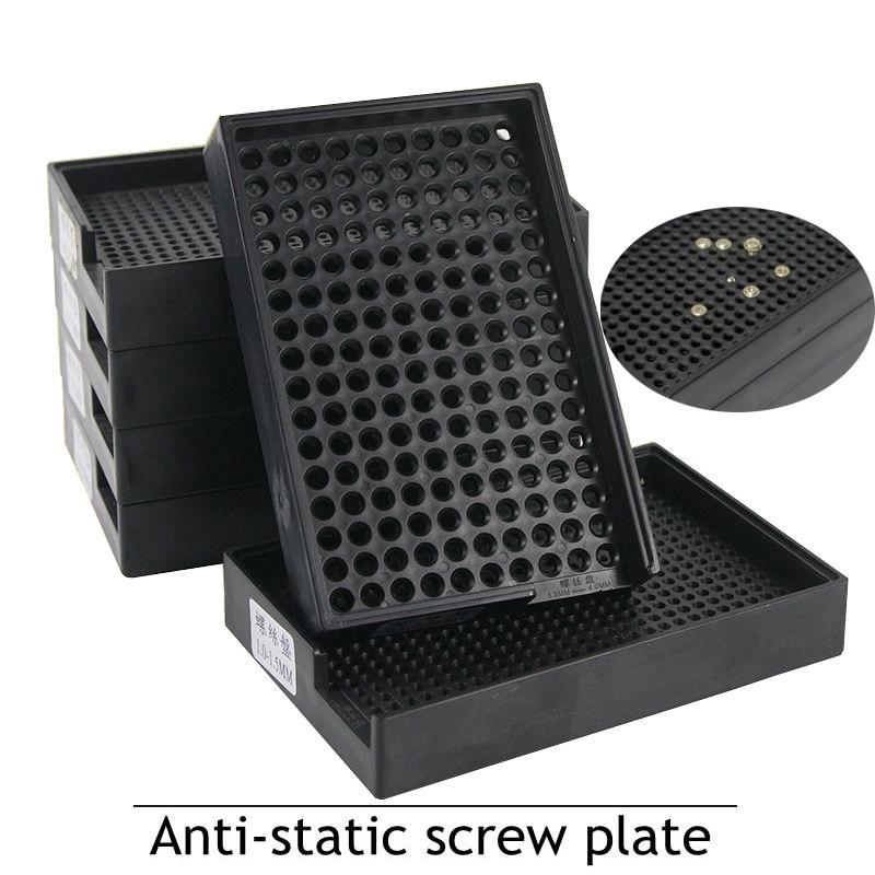 Screws Box Anti-static Screw Plate 1.0 - 4.0 Mm Black Count The Screw Box