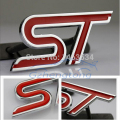 1 x 3D Metal Alloy ST Logo Car Front Hood Grille Emblem Stickers For Focus Mondeo Fiesta Black/Red