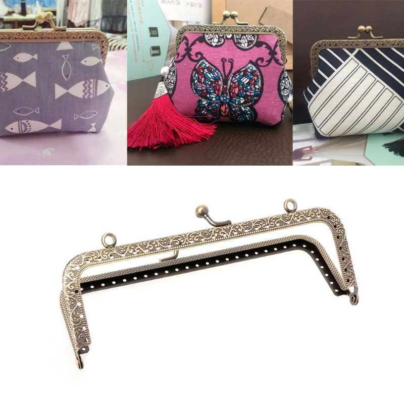 1pc Useful Metal Frame Kiss Clasp For Handle Bag Purse DIY Accessories 15cm Bag Parts Accessories