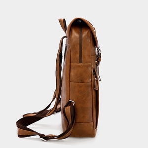 Image 3 - Travel Leather Backpack Men Waterproof Vintage Bag Large Capacity Back Pack Fashion Bagpack Laptop Backpacks Casual Bags For Men