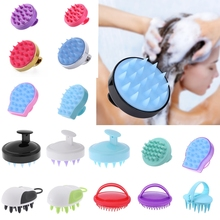 1pc Hair Wash Brush Silicone Head Body Shampoo Massager Comb for Pet People Tools Slimming Massage Shower Bath props