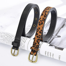 Female Belt Cummerbund Women Horsehair Belt With Leopard Pat