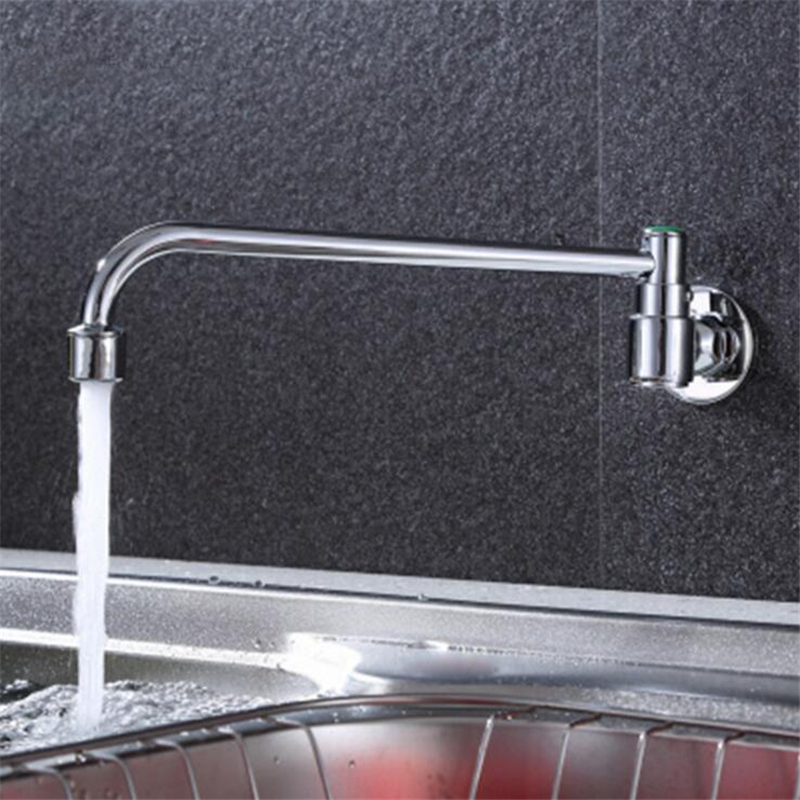 Bathroom Mixer Tap Faucet Single Cold Faucet Tap Kitchen Accessories Hotel Counter Semi-automatic Sink Faucet Wall Mounted