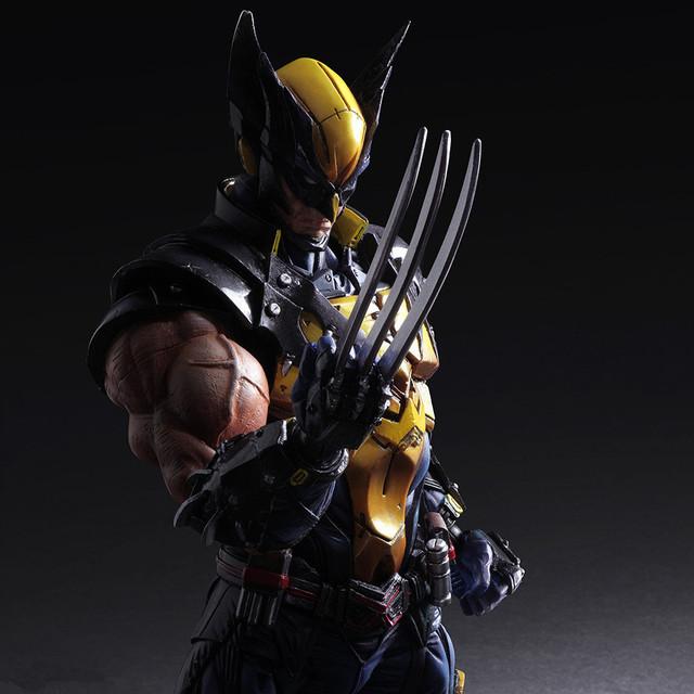 PLAY ARTS 26cm Marvel X-MEN Wolverine Action Figure Model Toys