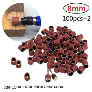 Image 1 - Kit de ponçage de tambour bande de ponçage 1/8 pouces mandrins de sable adaptés pour Dremel perceuse à ongles outils rotatifs Accessori Dremel