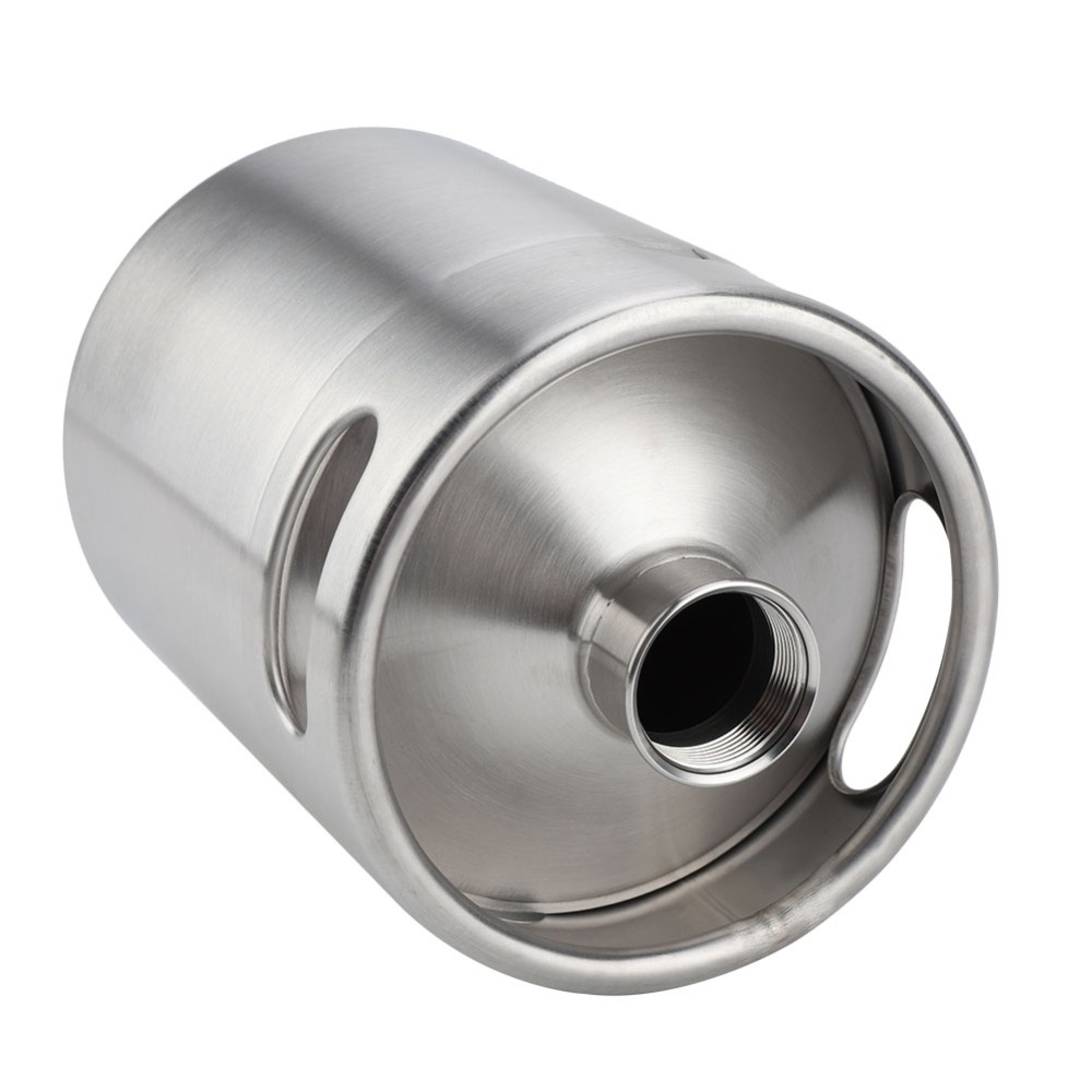 2L Stainless Steel Beer Mini Keg With Pressurized Faucet 13