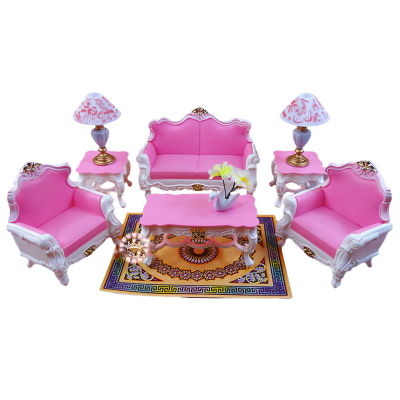 Deluxe Living Room Sofa Set For Barbie