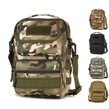 Camouflage shoulder messenger bag men s running sports riding backpack outdoor mountaineering travel waterproof tactical package