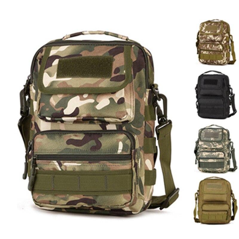 Camouflage shoulder messenger bag men s running sports riding font b backpack b font outdoor mountaineering