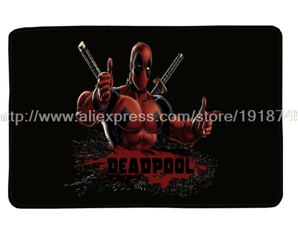 Deadpool Door Mat Hollywood Movies Printed Custom Flannel Super Soft Anti-Slip Area Rug For Living Room Kitchen Rugs Floor Mat