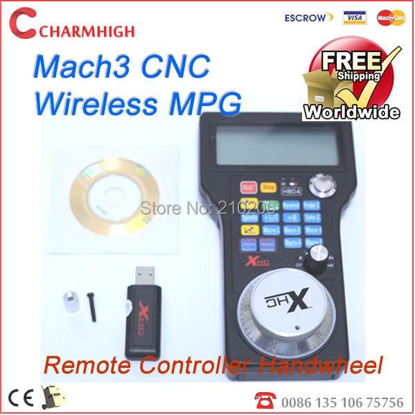 DHL Free shipping New mach3 2.4G CNC Wireless MPG MACH3 Remote Controller Handwheel, cnc wireless channel, high quality