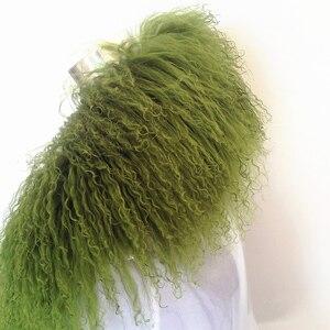 Image 3 - 75 センチメートルリアル毛皮の襟ウールの毛皮 2018 新ファッション黒緑の毛皮の襟の毛皮の襟ダウンジャケット 5 色