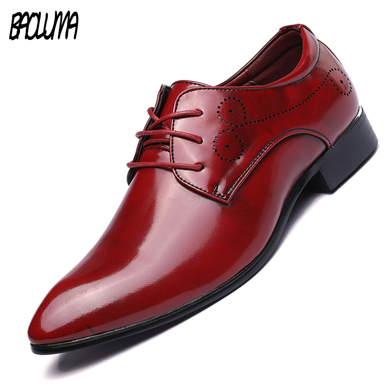 BAOLUMA Mens Shoes Large Sizes Men Casual Business Wedding Dress Crocodile Skin Genuine Leather Shoes Pointed Toe Oxfords Shoes choudory summer dress crocodile skin shoes men breathable prom shoes full grain leather pointy mens formal shoes shoe lasts